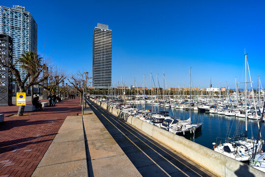 Barcelona. Catalonia. Spain. La Barceloneta is a neighborhood in the Ciutat Vella district