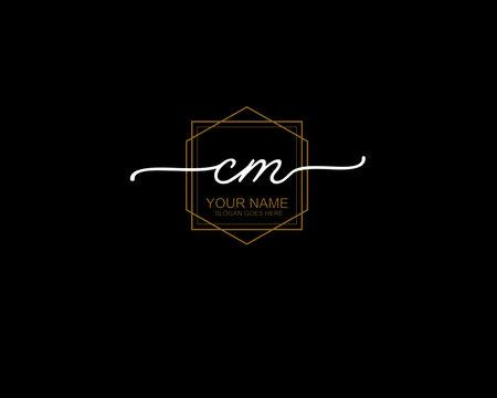 Letter CM Luxury logo design collection