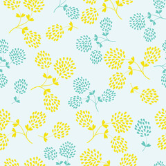 Floral vector seamless pattern design