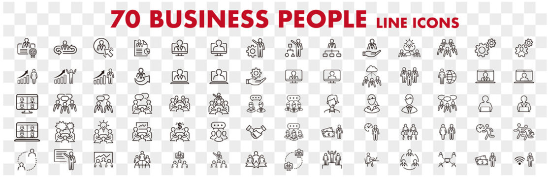 Business people office management human resources icons