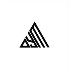 D Y M letter logo creative design. DYM icon