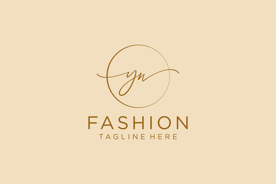 initial YW Feminine logo beauty monogram and elegant logo design, handwriting logo of initial signature, wedding, fashion, floral and botanical with creative template.
