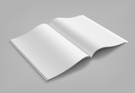 Blank magazine, album or book mockup mock up isolated on gray background