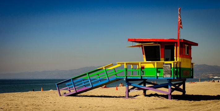 rainbow lifeguard shack