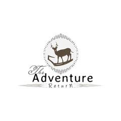 Vintage Deer creative design logo