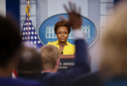 Press Secretary Karine Jean-Pierre holds a press briefing at the White House