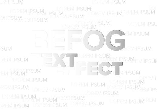 Fog Editable Text Effect
