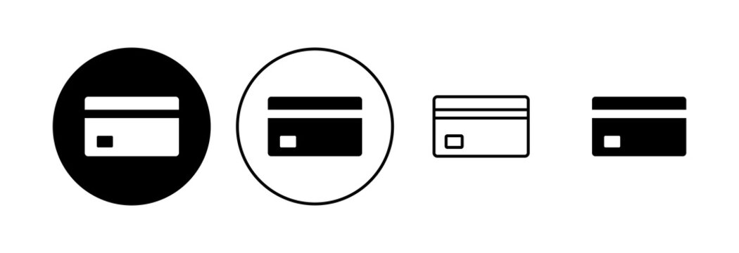 Credit card icon set. Credit card payment icon vector