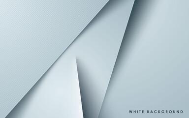 Obraz White overlap layers background papercut effect - fototapety do salonu
