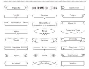 Obraz シンプルなラインのアイキャッチ用フレームセット - fototapety do salonu