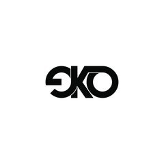 eko letter original monogram logo design