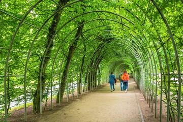 Roślinnytunel w Kołobrzegu - w środku kilka ludzkich sylwetek