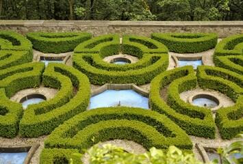 Ogród zamkowy.