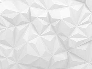 White Geometric Poligon Abstract Background