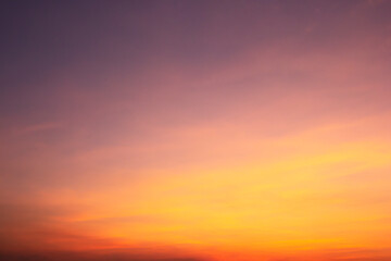 Dreamy purple sky  twilight background and sunlight with copy space