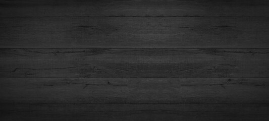 Old black gray grey anthracite rustic dark grunge wooden timber texture - wood background banner