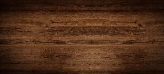 Obraz Old brown rustic dark grunge wooden timber texture - wood background banner. - fototapety do salonu