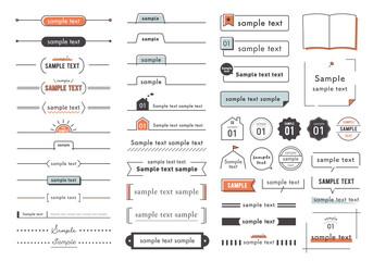 シンプルな見出しデザイン素材 見出し参考