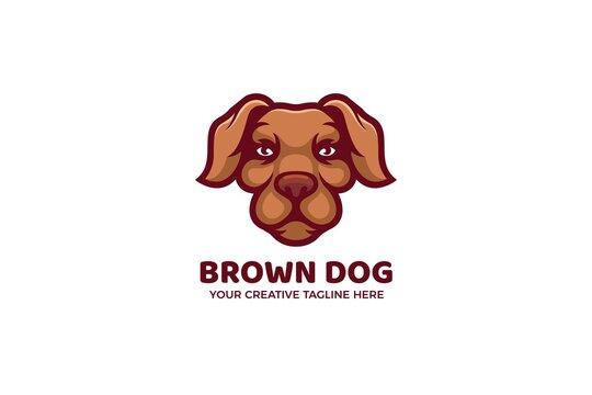 The Brown Dog Cartoon Mascot Logo Template