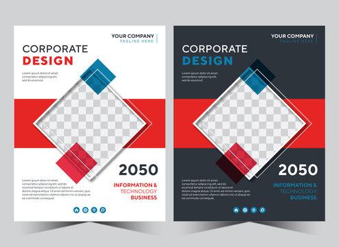 Annual report design template flyer