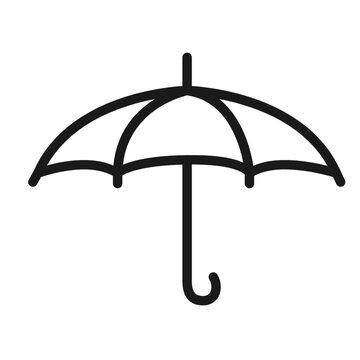 illustration of a black umbrella