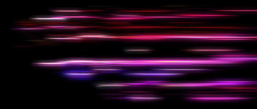 abstract led light trails defocused, motion blur, glowing effect