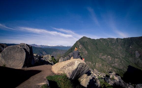 walking path in Machu Picchu