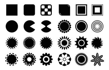 Obraz Różnego rodzaju kształty, naklejki oraz nalepki - fototapety do salonu