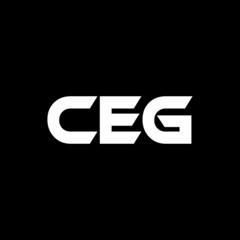 Obraz CEG letter logo design with black background in illustrator, vector logo modern alphabet font overlap style. calligraphy designs for logo, Poster, Invitation, etc.  - fototapety do salonu