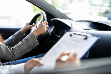 Driving License Lesson Or Test