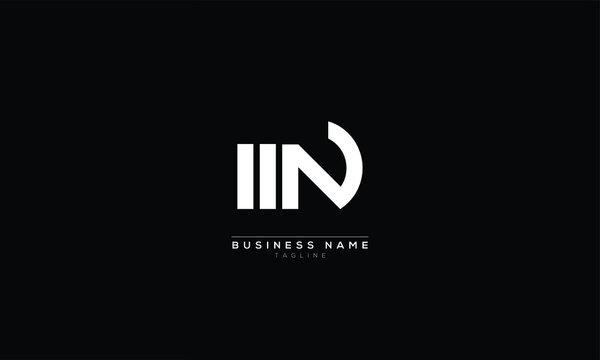 WN MN Abstract initial monogram letter alphabet logo design