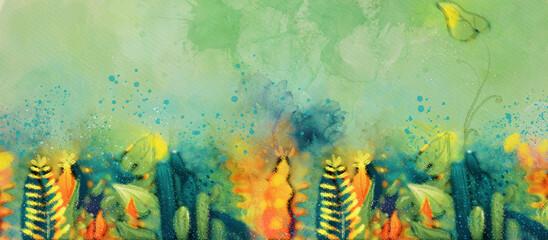 Watercolor decorative background. Design element