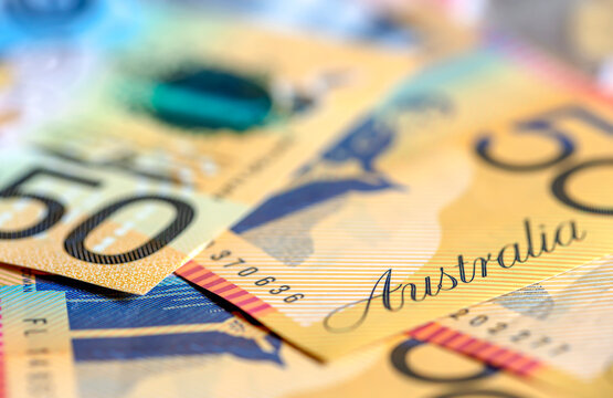 Australian Money Background Defocussed