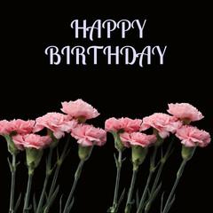 Obraz birthday card with flowers - fototapety do salonu