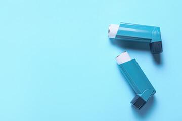 Obraz Modern inhalers on color background - fototapety do salonu