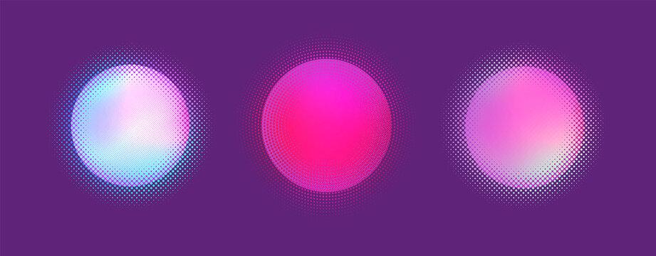 Halftone gradient background. Vector pattern. Grunge texture