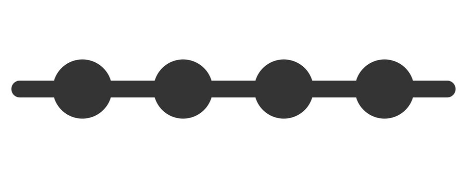 Connected dots line vector illustration. A flat illustration design of connected dots line icon on a white background.