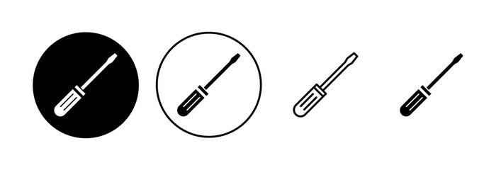 Obraz Screwdriver icon set. tools icon vector - fototapety do salonu