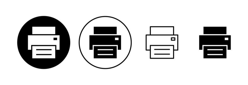 Print icon set. printer icon vector.