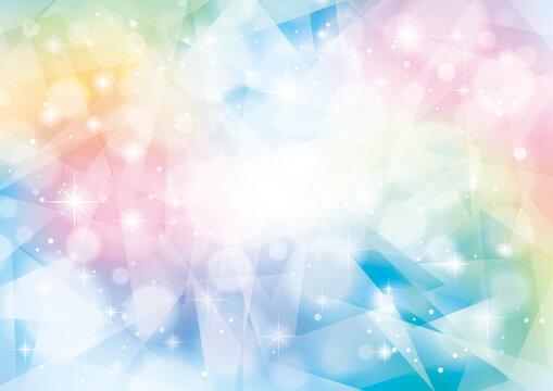 虹色キラキラ抽象背景
