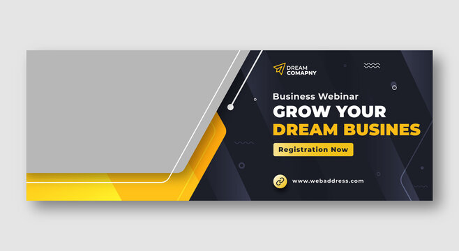 Corporate facebook cover web banner