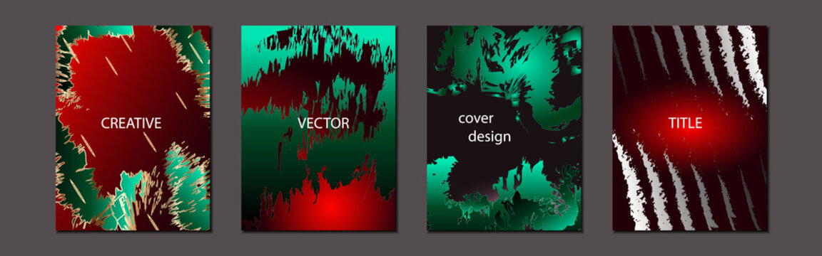 Set of abstract backgrounds in vibrant colors
