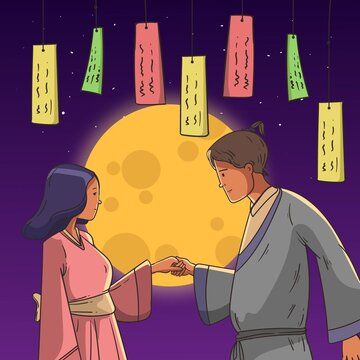 Hand Drawn Tanabata Illustration_2