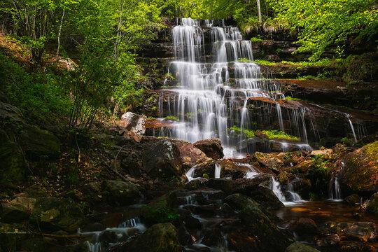 Tupavica Waterfall, Dojkinci, Stara planina. Nature outdoors travel destination, Stara Planina (Balkan mountain), Serbia