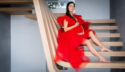 Fototapeta Kobieta w ciąży portret obraz