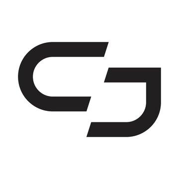 cj initial letter vector logo