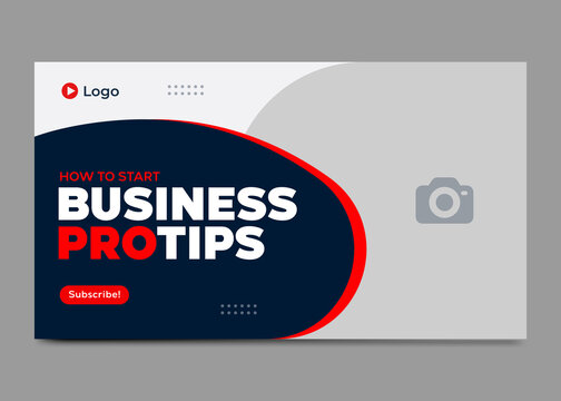 Editable video thumbnail and web banner design. Youtube thumbnail for live workshop business template. Video cover photo for social media videos.