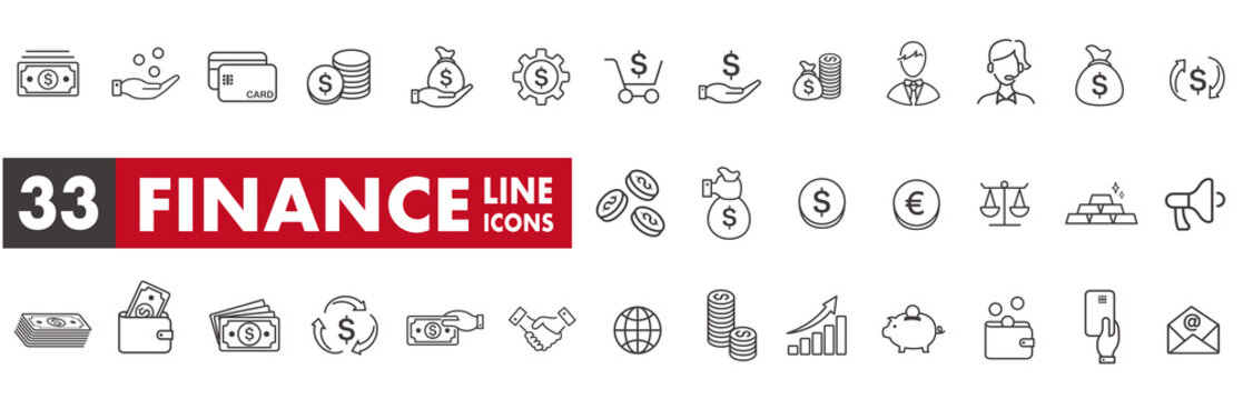 line icon of Vector business and finance