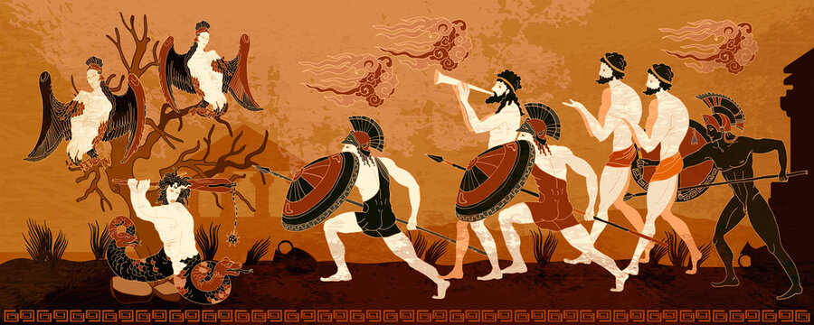 Ancient Greece. History and culture. Warriors. Legends and mythology