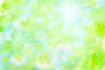 Fototapeta ボケた緑の背景イメージ
